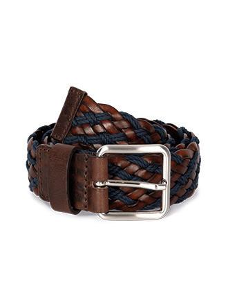 Two-colour plaited belt