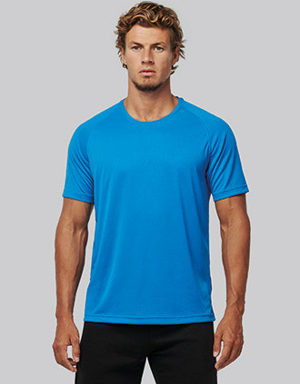 Men's recycled round neck sports T-shirt
