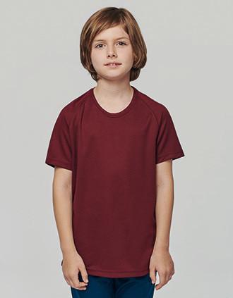 Kids' short-sleeved sports T-shirt