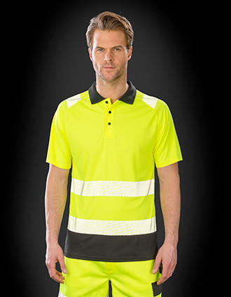 Recycled safety polo shirt